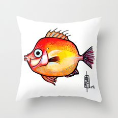 Pesce rosso Throw Pillow