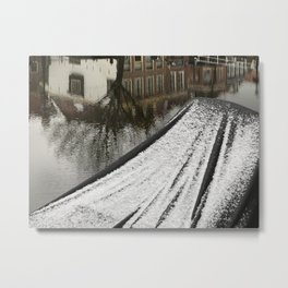 First snow in front of my house Metal Print
