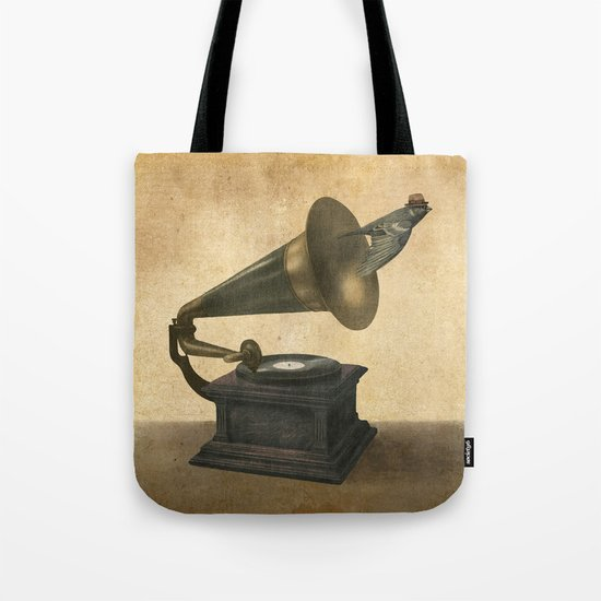 Vintage Songbird Tote Bag