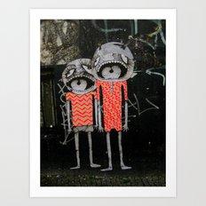 street art couple Art Print