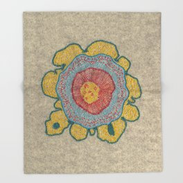 Growing - Pinus 1 - plant cell embroidery Throw Blanket