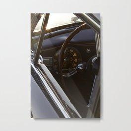 Lancia Aurelia GT Dashboard Metal Print