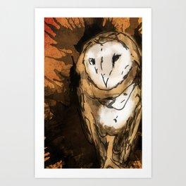 Hooters Art Print