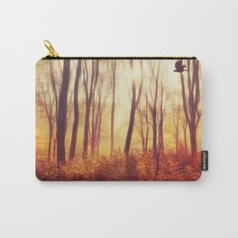 the art of falling apart - abstract trees in morning light Carry-All Pouch