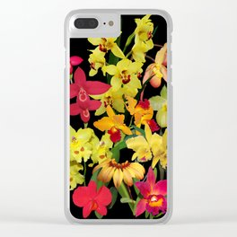 Orchids - Hot Colors! Clear iPhone Case