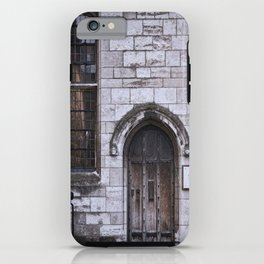 Lincoln Cathedral Refectory Door iPhone Case