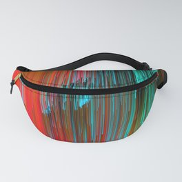 Nice Day for a Walk - Abstract Glitchy Pixel Art Fanny Pack