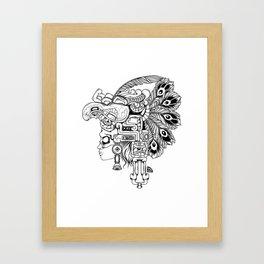 Mayan Warrior Framed Art Print