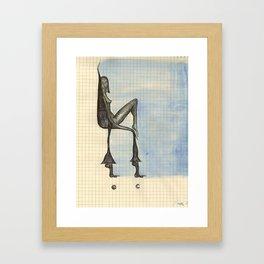 Foot Chair Framed Art Print