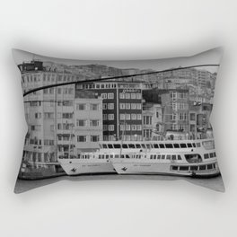 fishing on the Galata Bridge Rectangular Pillow