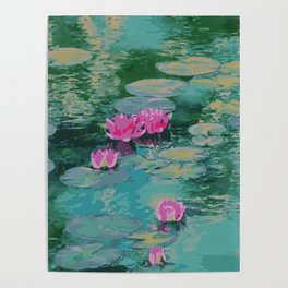 Lotus Floating On Lily Pads Poster