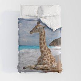 Princess on the beach Comforters