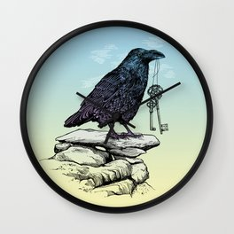 Raven's Keys Wall Clock