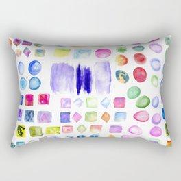 Watercolor splotches art Rectangular Pillow
