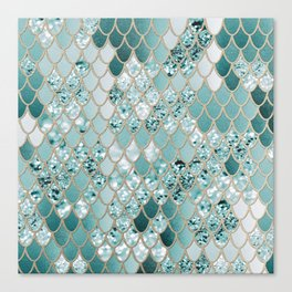 Mermaid Glitter Scales #3 #shiny #decor #art #society6 Canvas Print