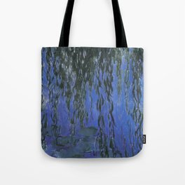 Water Lilies and Weeping Willow Branches by Claude Monet Tote Bag