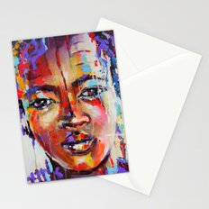 Closer - portrait of a beautiful woman Stationery Cards