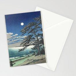 """""""Spring Moon at Ninomiya Beach"""" by Hasui Kawase, 1931 Stationery Cards"""