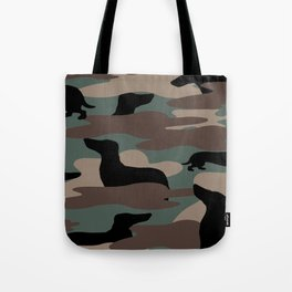 Camo Weiner Dogg Tote Bag