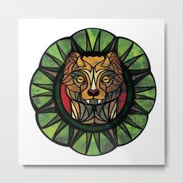 Geometric Mongoose  Metal Print