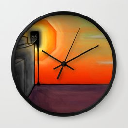 Serpent Horizon Wall Clock