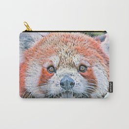 Watercolors-Red Panda Carry-All Pouch