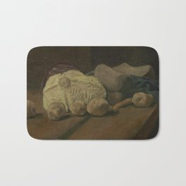 Still Life with Cabbage and Clogs Bath Mat