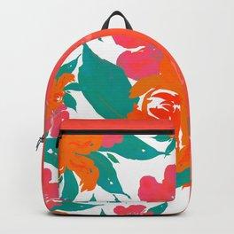"""Vivid Colors Tropical Classic Floral"" Backpack"