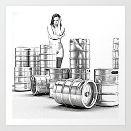 Lager and Lead Art Print