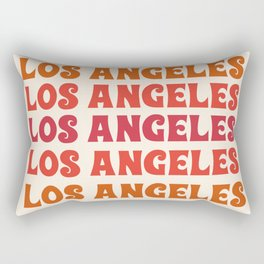 Los Angeles - retro vibes throwback minimal typography 70s colors 1970's LA Rectangular Pillow