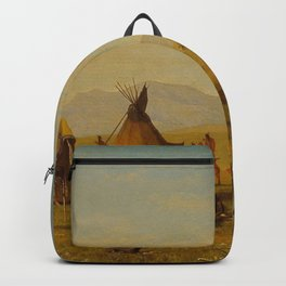 Albert Bierstadt - Sioux Village near Fort Laramie Backpack