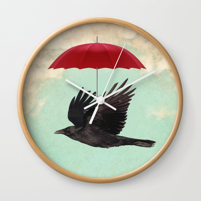 Raven Cover Wall Clock