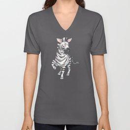 Watercolor Zebra gift for zebra fans Unisex V-Neck