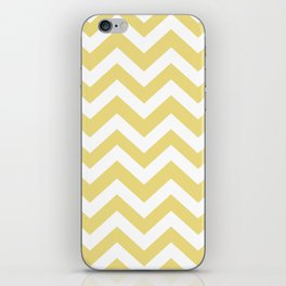 Flax - beije color - Zigzag Chevron Pattern iPhone Skin