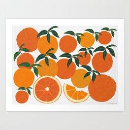 Orange Harvest - Landscape Art Print
