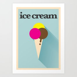 Minimal Ice Cream Poster Art Print