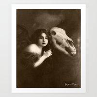 Dark Victorian Portrait Series: The Angel of Mercy Art Print