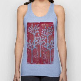 red dot tree forest Unisex Tank Top