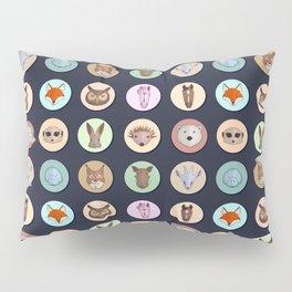 Vector animals in circles Pillow Sham