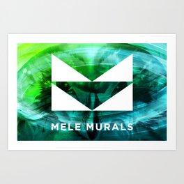 Mele Murals Pueo Art Print