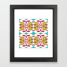 abstract face pattern Framed Art Print