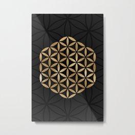 Flower Of Life - Sacred Geometry Metal Print