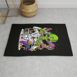 Alien Psychedelic Scientist Rug