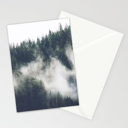Abstract Forest Fog Stationery Cards