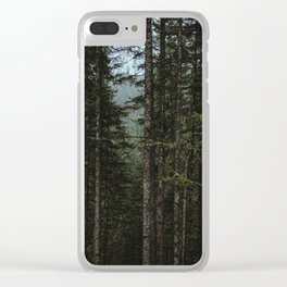 Oregon Trees Clear iPhone Case