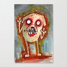 Jake the Zombie dog Canvas Print