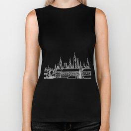 fabulous city . art . black and white Biker Tank