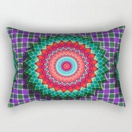 Plaid Flower Rectangular Pillow