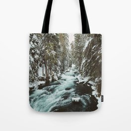 The Wild McKenzie River Portrait - Nature Photography Tote Bag