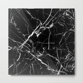 Black And White Marble Metal Print